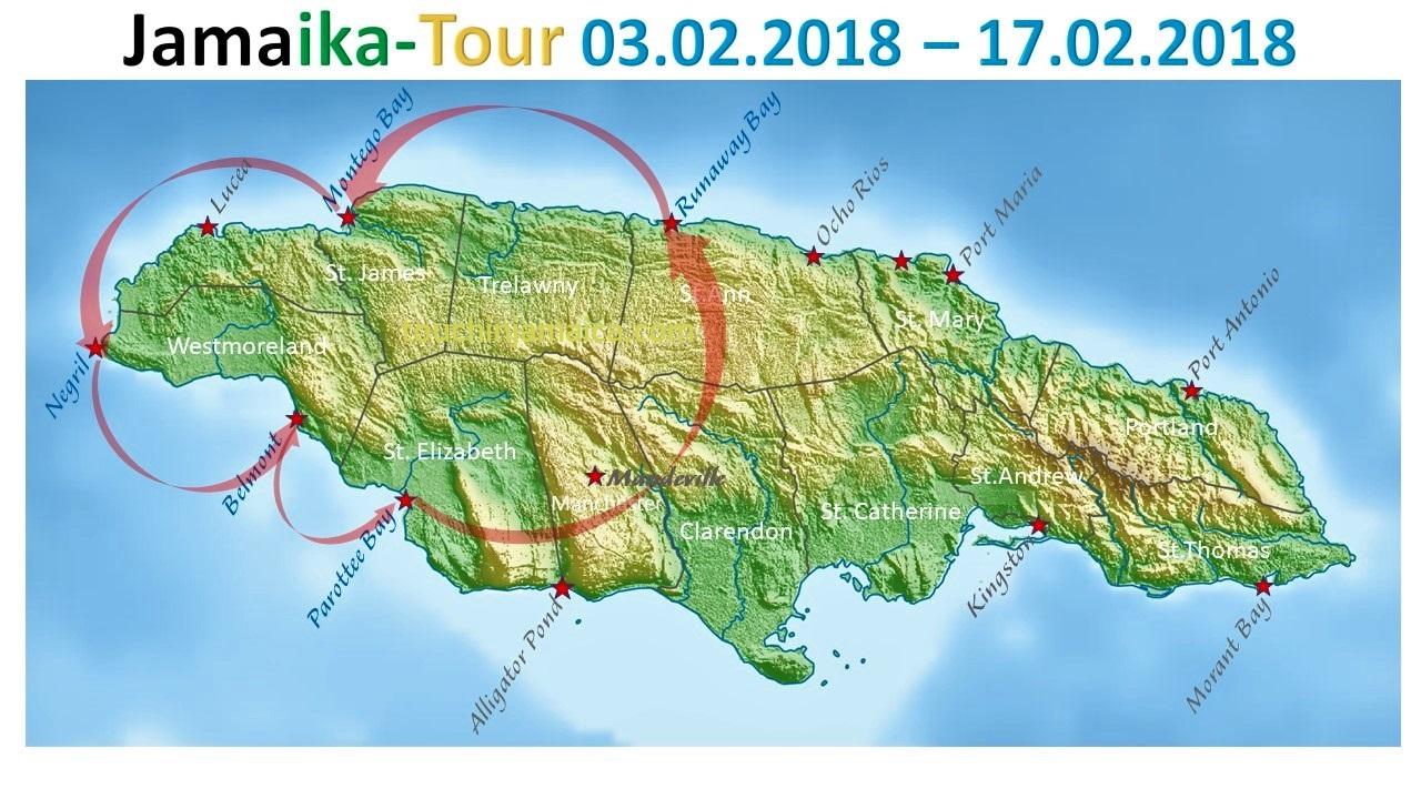 Unsere Jamaika-Tour 2018- los gehts!
