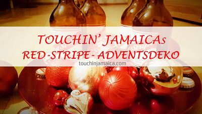 Touchin' Jamaica Red-Stripe-Adventsdeko