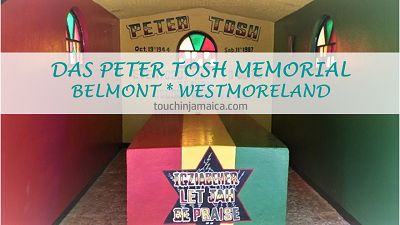 Das Peter Tosh Memorial in Belmont
